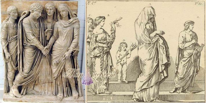 свадебный наряд древнего рима картинка