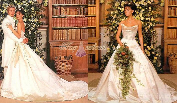 Свадебное платье Виктории Бэкхем картинка