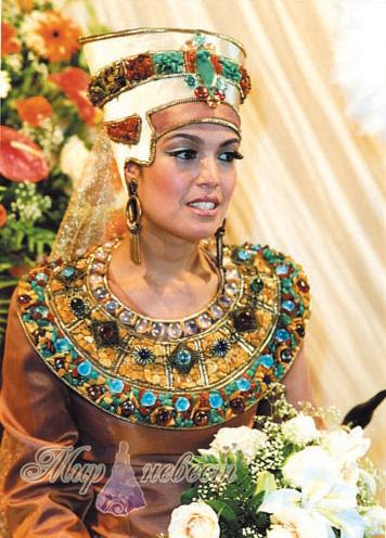 свадебный наряд древнего египта картинка