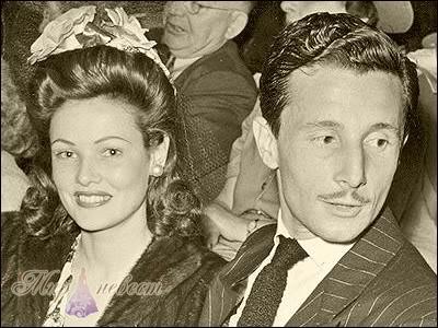 Олег Кассини и его жена Джин Терни oleg cassini