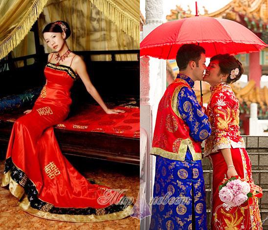 свадебный наряд Китая картинка